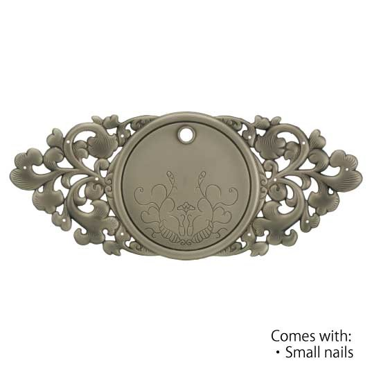 Noble - Large  Antiq Silver-ORNAMENTAL KEY PLATE-CABINET HARDWARE-
